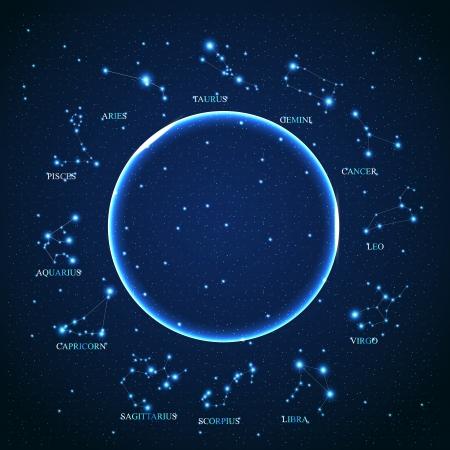 constelaciones: del signo del zodiaco aries de las hermosas estrellas brillantes en el