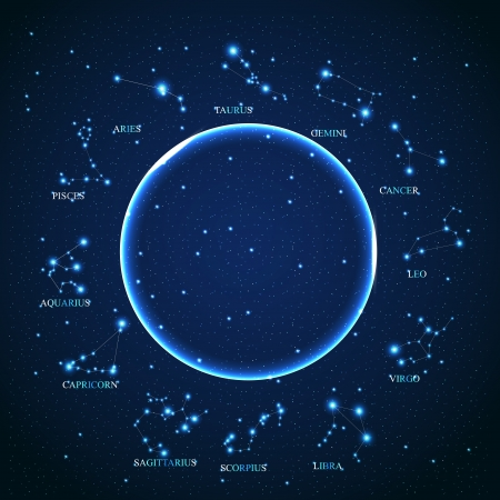 of the aries zodiac sign of the beautiful bright stars on Vector