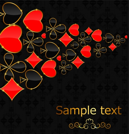 Abstract background with card suits for design  Vector illustrat