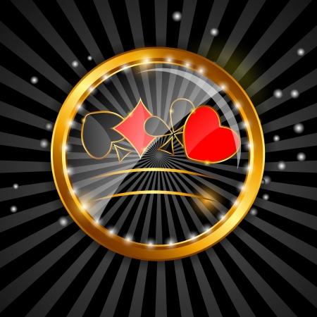 jeu de cartes: R�sum� fond de cartes pour la conception Illustration