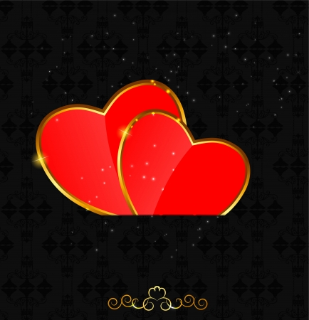 couple lit: Valentines day love  heart background