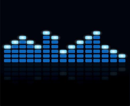 recording studio: Digital equalizer  Illustration
