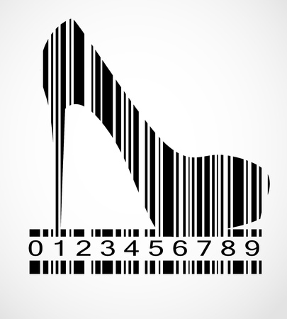 Barcode shoe image  Stock Vector - 19667331