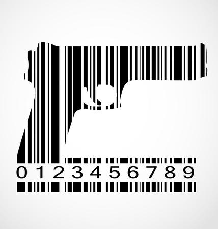 pistolas: Imagen de c�digo de barras
