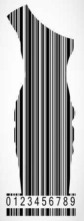 Barcode dress image  Stock Vector - 19667326
