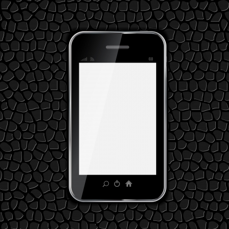 Realistic mobile phone vector illustration Stock Vector - 19802586