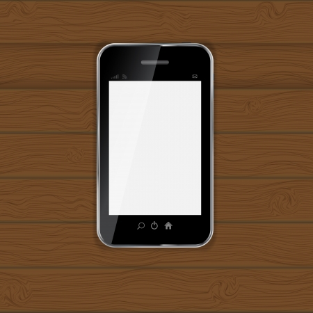 Realistic mobile phone vector illustration Stock Vector - 19802642