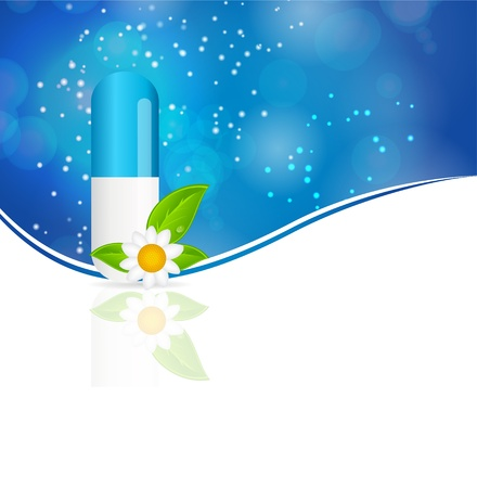 Herbal pill  Environment background vector illustration Vector