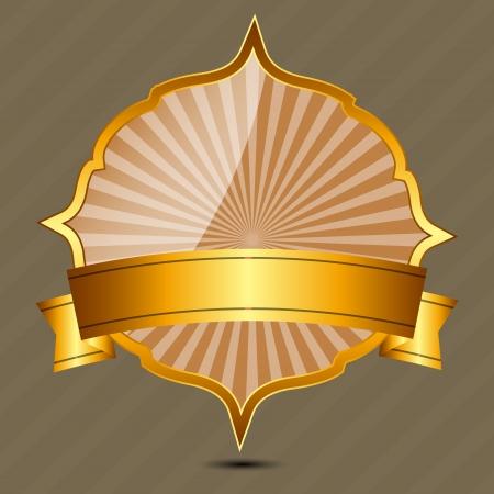 gold seal: Vector gold sign, label template Illustration