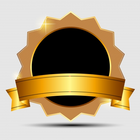 Vector gold sign, label template 矢量图像