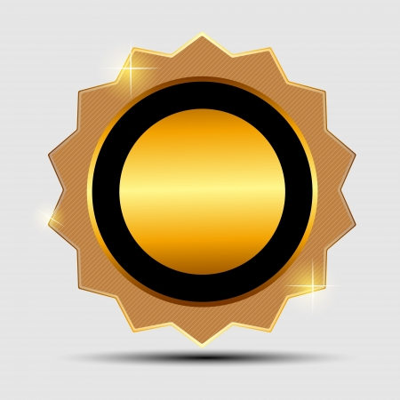 Vector gold sign, label template Stock Vector - 19840783