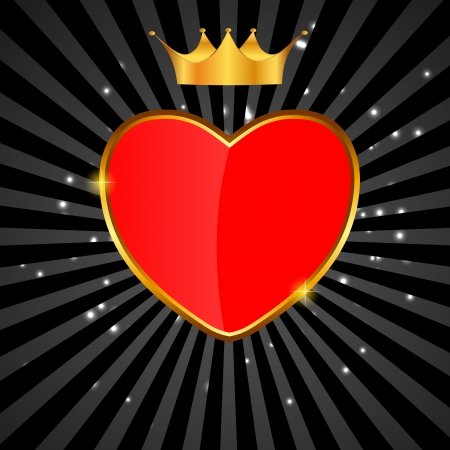 couple lit: Valentines day love  heart backgroung, vector illustration Illustration