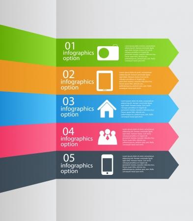 Infografik Vorlage Business Vektor-Illustration Standard-Bild - 20087824