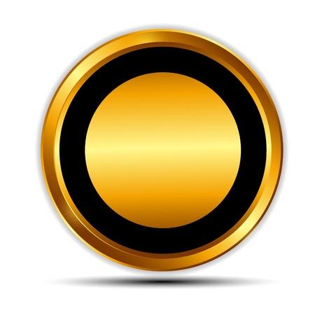 Vector gold Zeichen, Etikettenvorlage Standard-Bild - 20087835