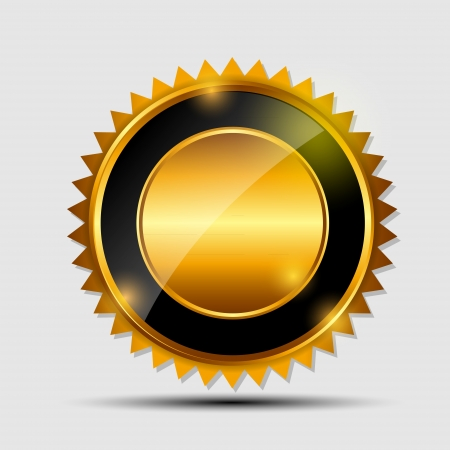 Vector oro segno, modello di etichetta Archivio Fotografico - 20087925