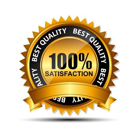 zufriedenheitsgarantie: Vector gold Zeichen, Etikettenvorlage