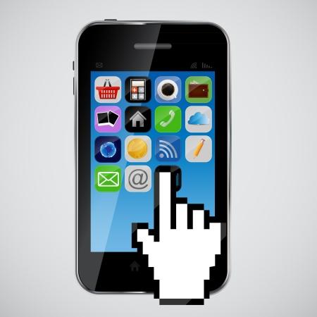 mobile phone  vector illustration Stock Vector - 20227977