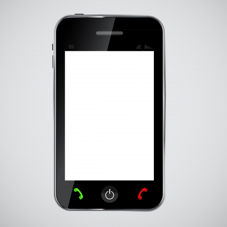 personal data assistant: mobile phone  vector illustration