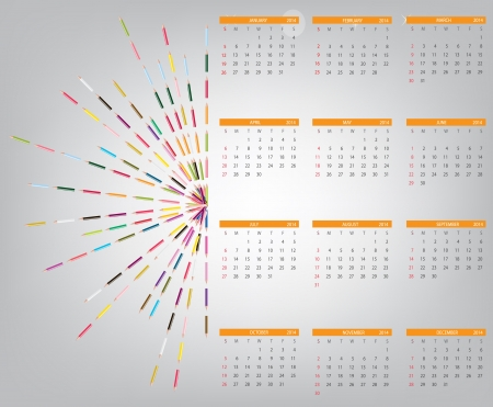 2014 new year calendar illustration. Stock Vector - 20600804