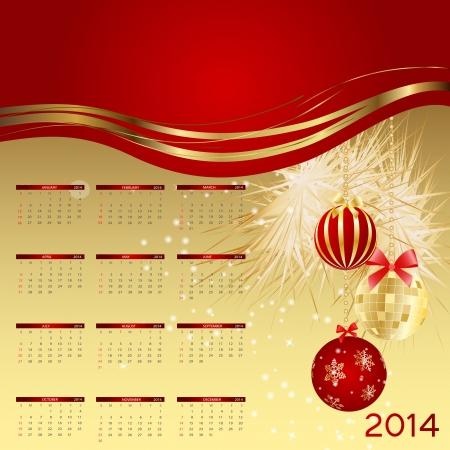 2014 new year calendar illustration. Stock Vector - 20600972