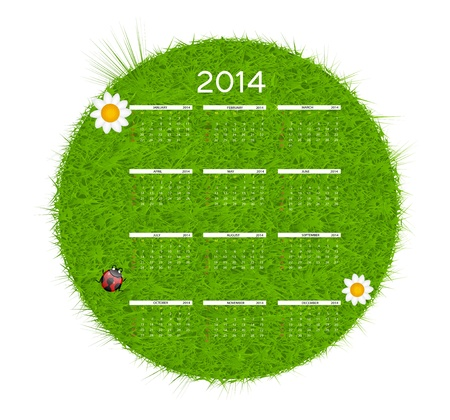 2014 new year calendar illustration Vector
