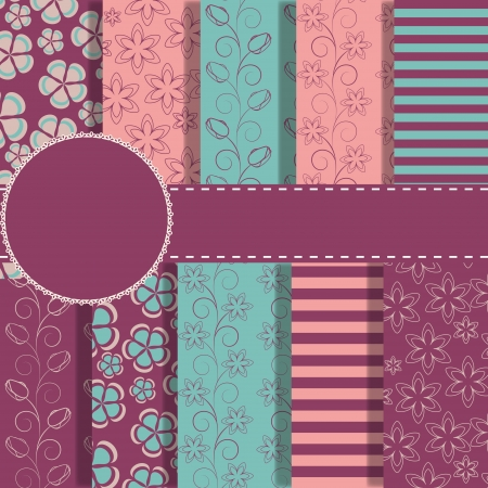 decoratively: set of beautiful paper for scrapbook