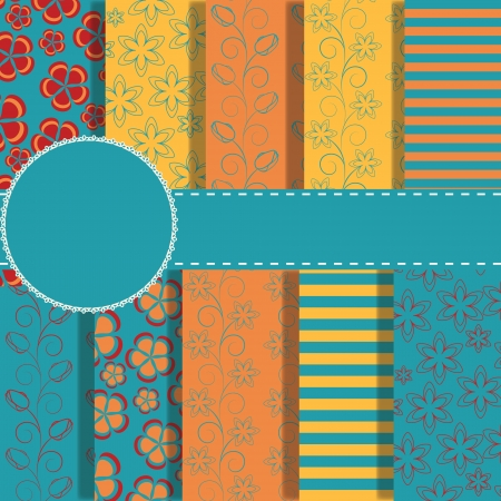 set of beautiful paper for scrapbook Vector