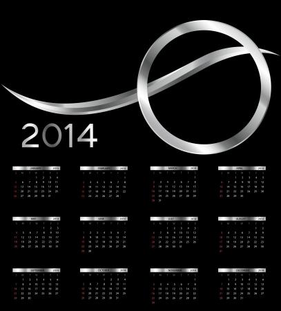 2014 nieuwe jaarkalender afbeelding
