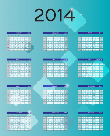 2014 new year calendar illustration illustration