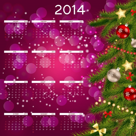 2014 new year calendar vector illustration Stock Vector - 20833251