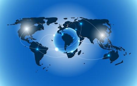 the americas: world map background vector illustration Illustration