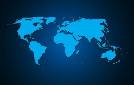 map of china: world map background vector illustration Stock Photo