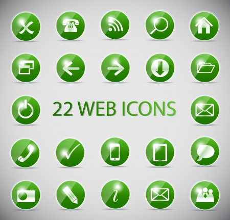 Shine glossy computer icon vector illustration Stock Photo