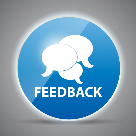 feedback: Shine glossy computer icon feedback vector illustration