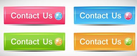 shiny buttons: Shiny Rectangle Menu Buttons vector illustration