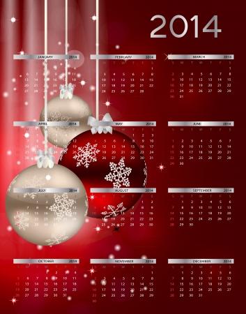 2014 new year calendar Stock Vector - 21675105