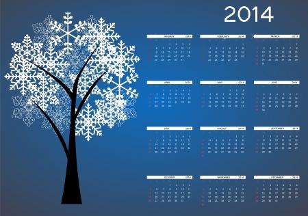 2014 new year calendar  Stock Vector - 21687575