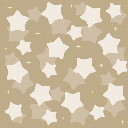 wintriness: golden yellow stars over blue background vector illustration