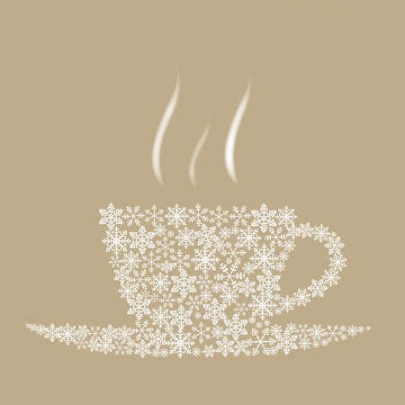 Christmas coffee cup Vector