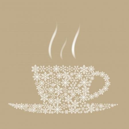 christmas drink: Christmas coffee cup