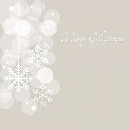 christmas cards: Christmas card with snowflakes