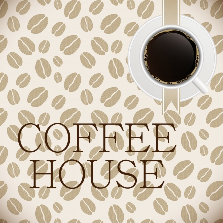 cup: Coffee house menu template vector illustration