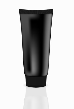 Black cream tube vector illustration Vector