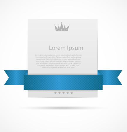 felicitaciones: Tarjeta blanca con cinta de ilustraci�n vectorial Vectores