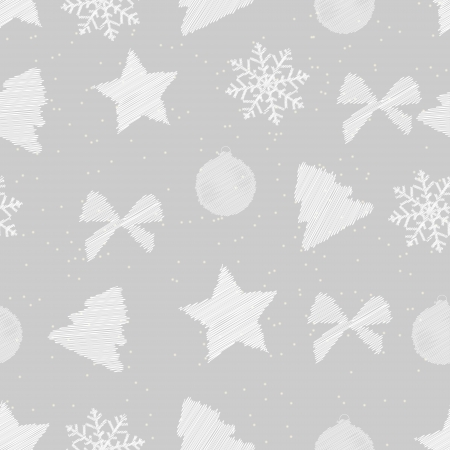 technique: Abstract beauty Christmas and New Year seamless pattern background. vector illustration