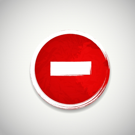 discolored: Old red stop road sign vector illustration