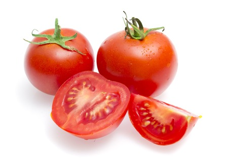 Red tomatoes isolated on a white background Stock Photo - 22773767