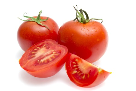 Red tomatoes isolated on a white background Stock Photo - 22773766