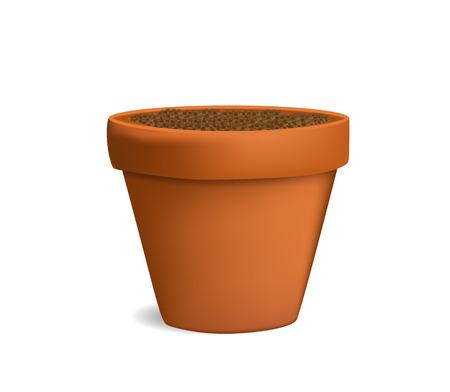 plant pot: flowerpot with ground vector illustration Illustration