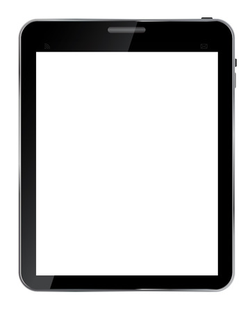 touch sensitive: Abstract design  realistic tablet with blank screen isolated on white background..Vector  illustration